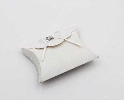 Scatolo busta merletto lino bianco confezioni da pz. 25