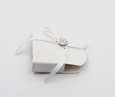 Scatolo cuore lino bianco confezioni da pz. 25