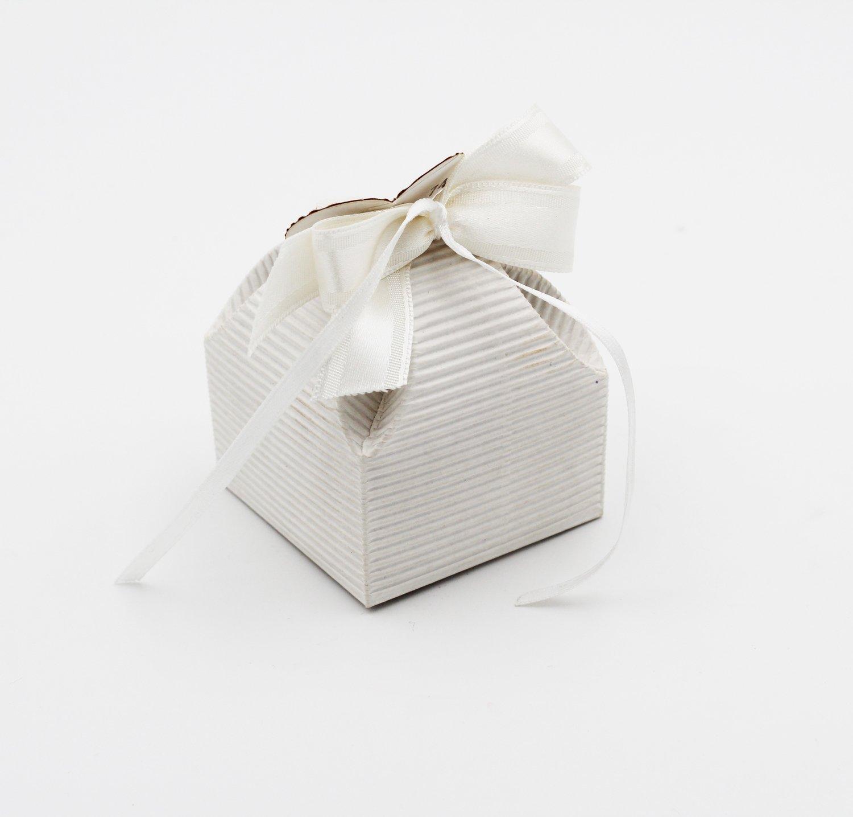 Scatolo fiore onda bianco confezioni da pz. 25