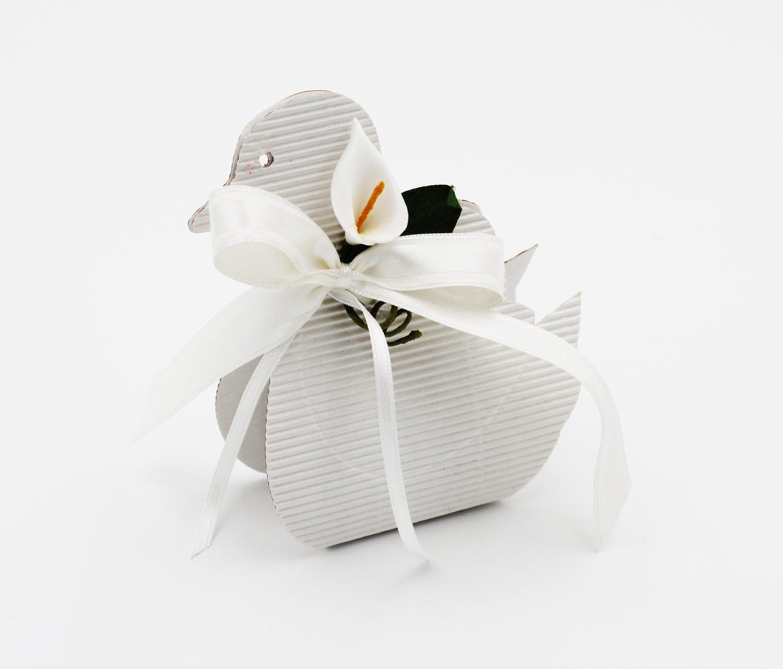 Scatolo paperella onda bianco confezioni da pz. 25