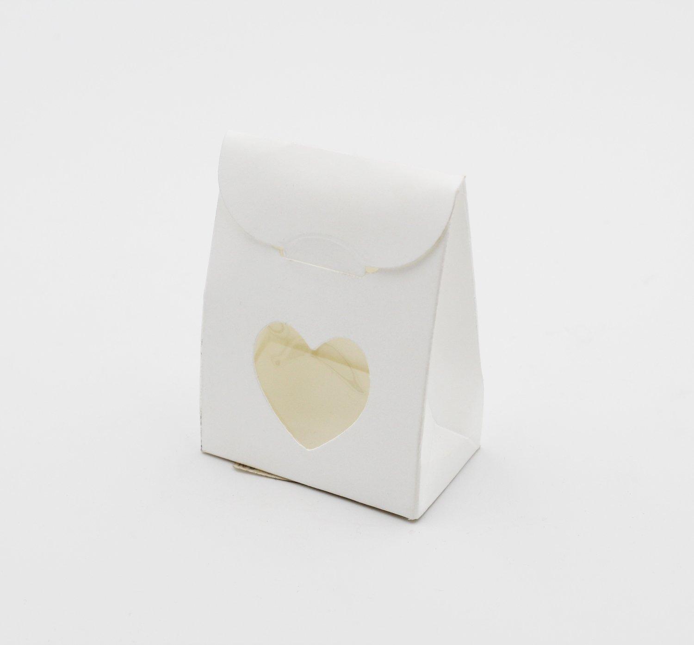 Scatolo  sacchetto cuore  white  confezioni da pz. 10