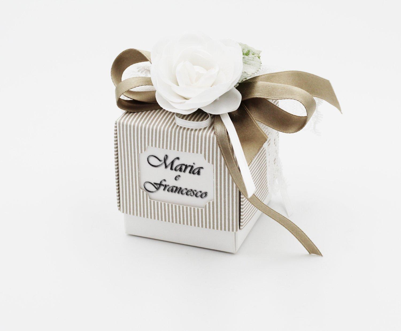 Scatolo fleur mille righe tortora confezioni da pz. 10