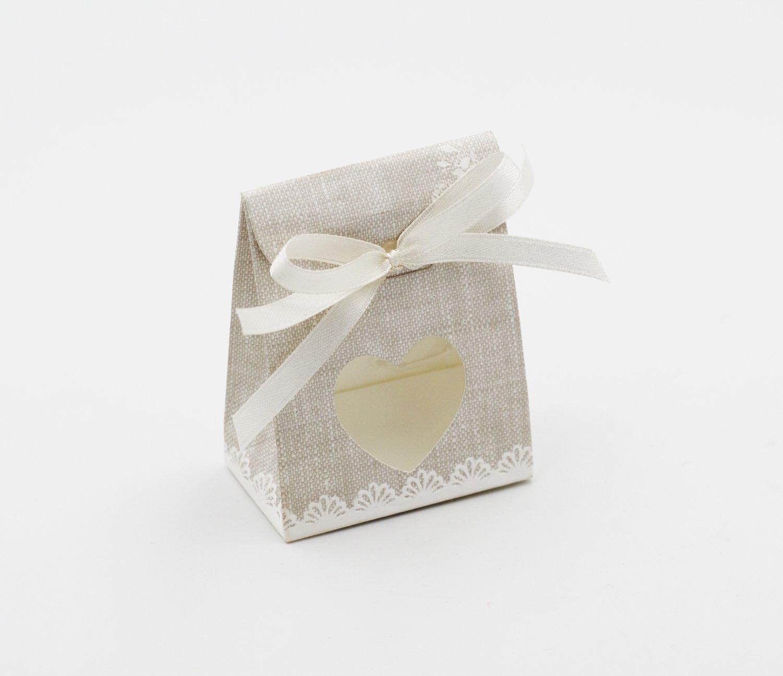 Scatolo sacchetto con cuore rose confezioni da pz. 10