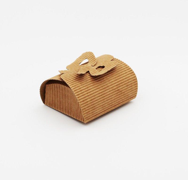 Scatolo fiocco onda avana confezioni da pz. 10