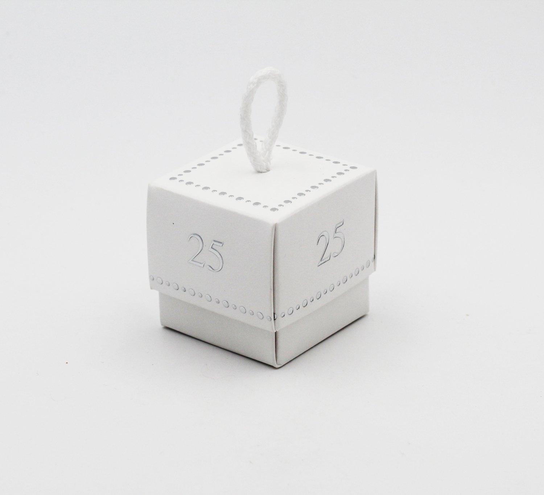 Scatolo fleur 25° anniversario white confezioni da pz. 10