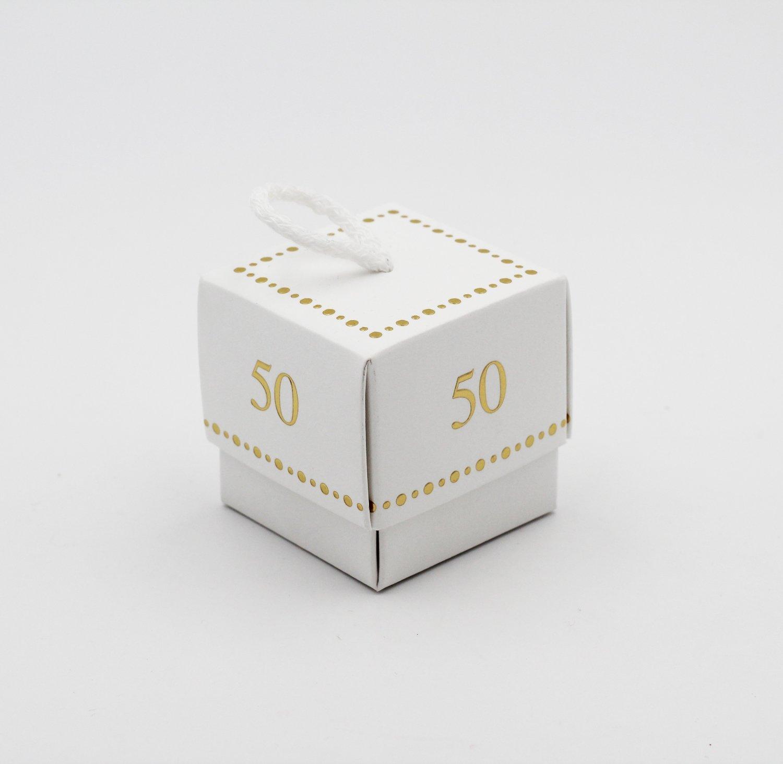Scatolo fleur 50° anniversario white confezioni da pz. 10
