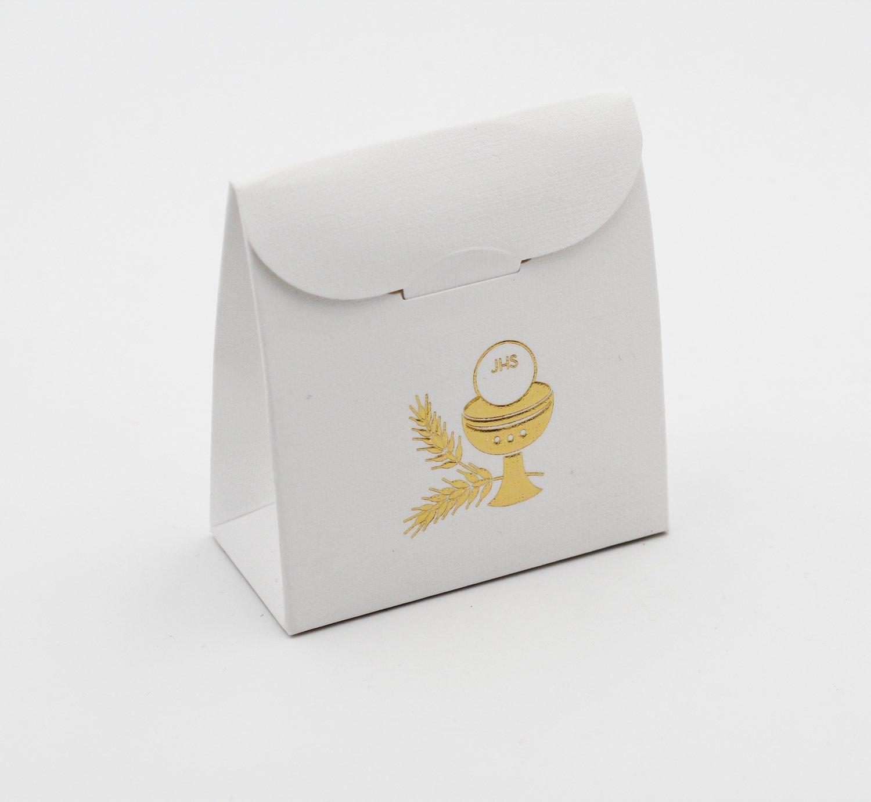 Scatolo sacchetto lino calice confezioni da pz. 25