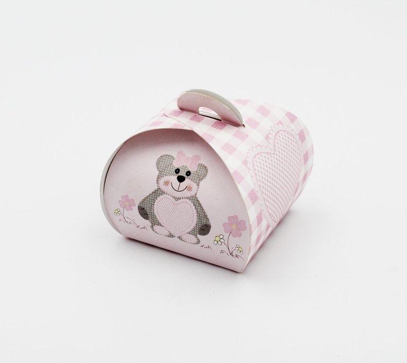 Scatolo tortina ted bear rosa Pz. 10