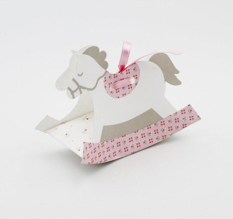 Scatolo cavallo dondolo bloom rosa Pz. 10