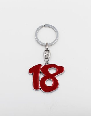 Portachiavi numero 18 Pz.12