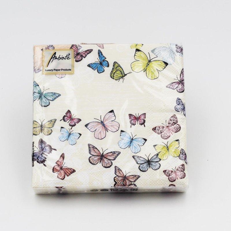 Tovaglioli per eventi farfalle Pz. 20