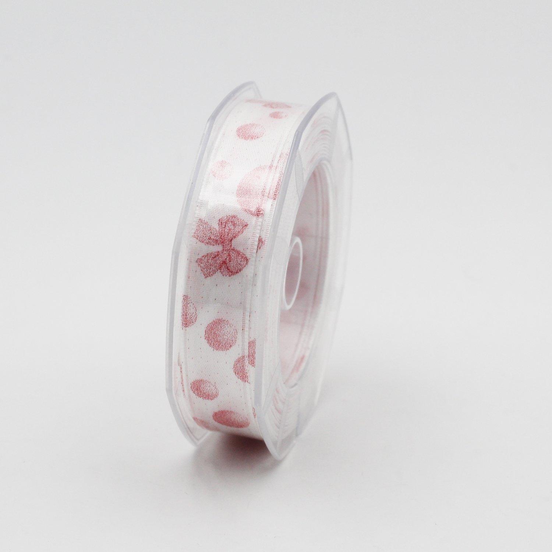 Furlanis nastro raso con fiocco nascità rosa mm.16 Mt. 10