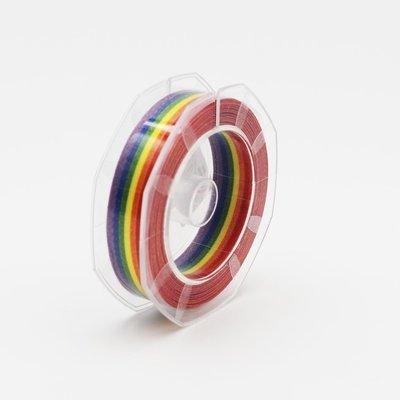 Nastro raso multicolore mm.16