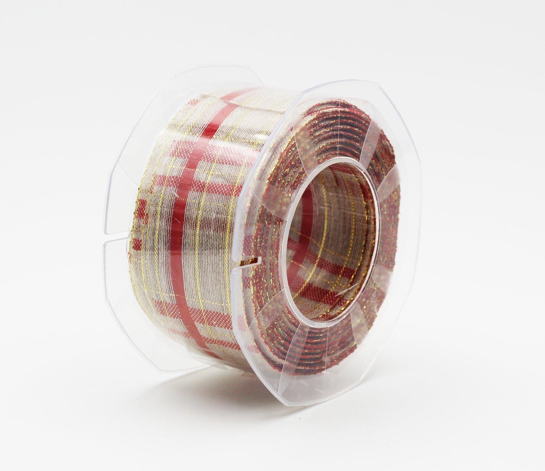 Nastro lino scozzese lurex mm.40