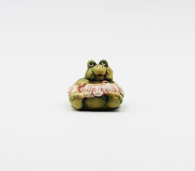 Bomboniera in ceramica ranocchio rosa Pz.12