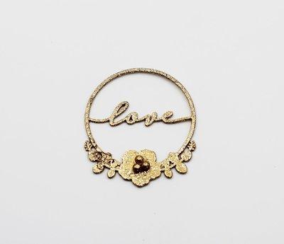 Cerchio oro glitter love Pz.12