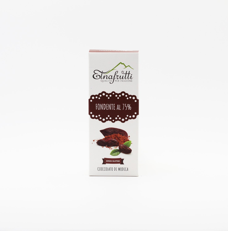 Cioccolato di modica senza glutine fondente al 75%
