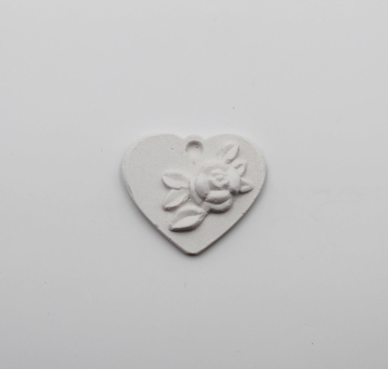 Gessetto cuore con rosa Pz.12