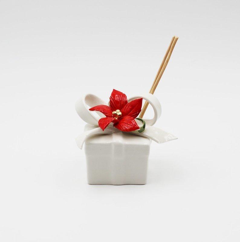 Bomboniera pacco regalo manzoni quadrato *prodotto artigianale* Pz.1