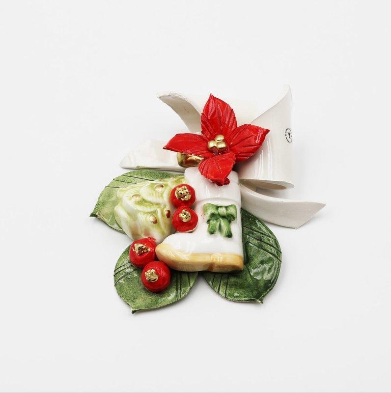 Bomboniera fiocco natale *prodotto artigianale* Pz.1