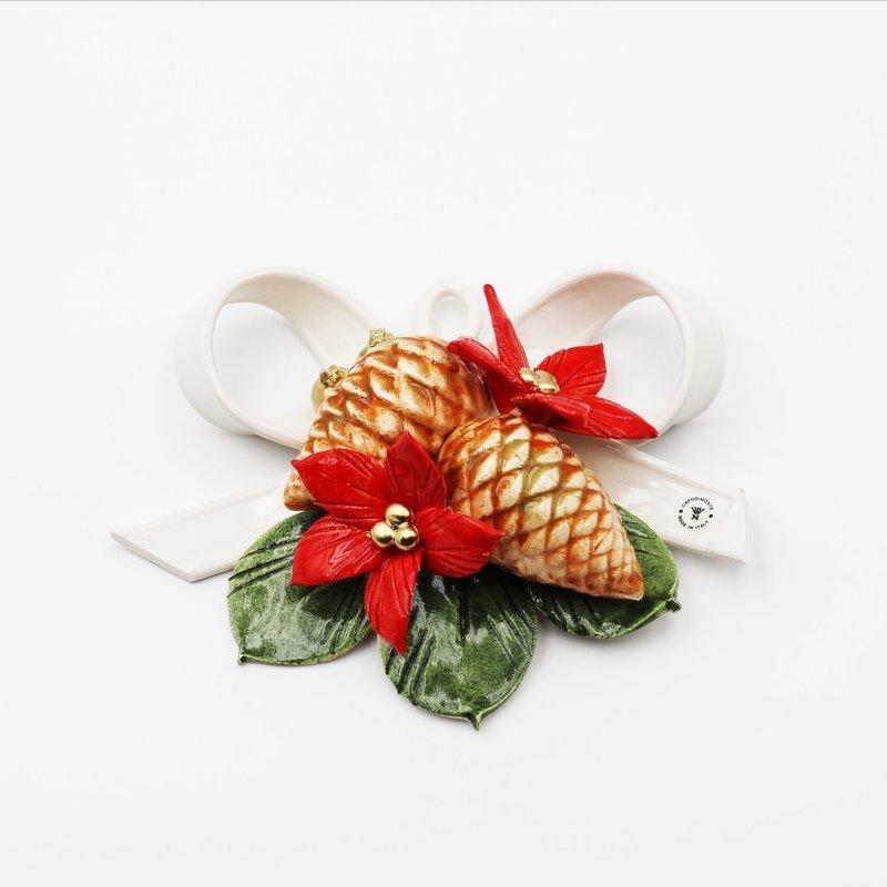 Bomboniera fiocco pigna natale *prodotto artigianale*Pz.1
