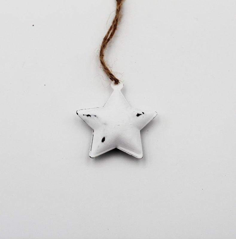 Applicazione stella bianca con cordino Pz. 10