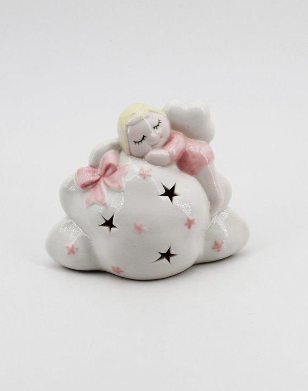Bomboniera Ilary Queen angelo seduto su nuvola con led Pz. 1