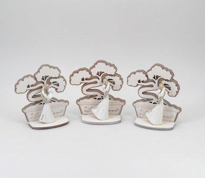 Bomboniera in resina coppia sposi con sagoma bonsai Pz.3
