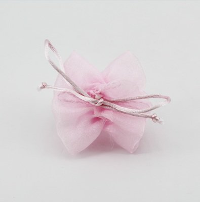 Tubolare porta confetti con tirante rosa  Pz.10