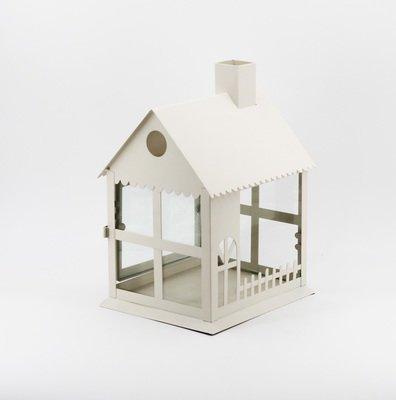 Lanterna in metallo a forma di casa Pz.1