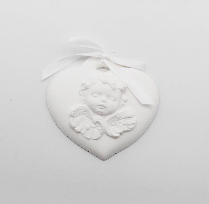 Gessetto a forma di cuore con angelo Pz.1
