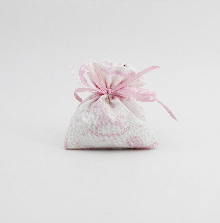 Mini sacchetto con fantasia cavallo a dondolo Pz.10