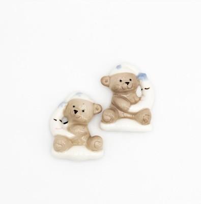 Bomboniera orsetto in porcellana calamitato Pz.12