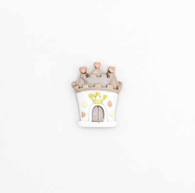 Bomboniera castello principessa in resina calamitato Pz.24