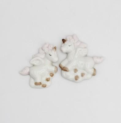 Bomboniera calamita unicorno in porcellana Pz.12