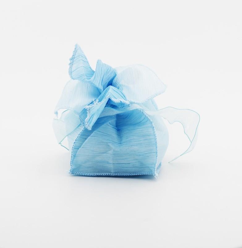 Sacchetto bicolore celeste e azzurro Pz. 10