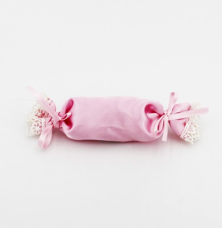 Sacchetto rosa a forma di caramella Pz. 12