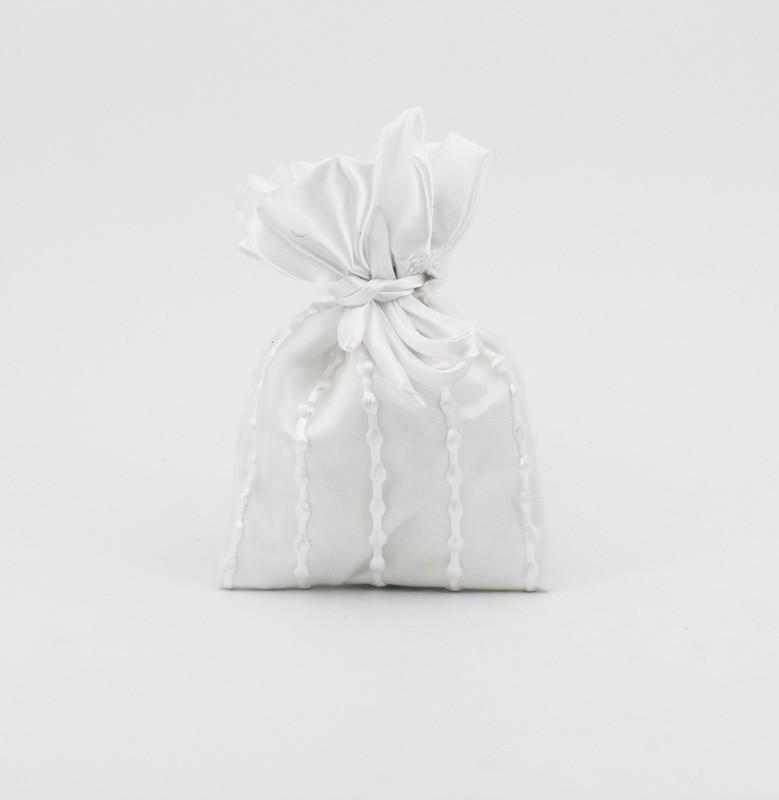 Sacchetto bianco con tirante Pz. 12