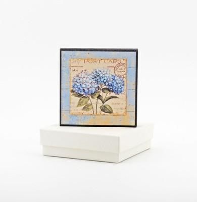 Bomboniera quadretto con fantasia fiori Pz. 1