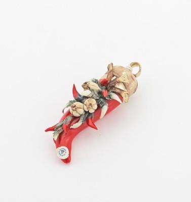 Bomboniera Corno piccolo rossini *prodotto artigianale*Pz. 1