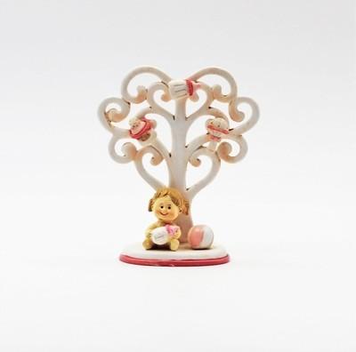 Bomboniera in resina albero della vita girl  Pz.4