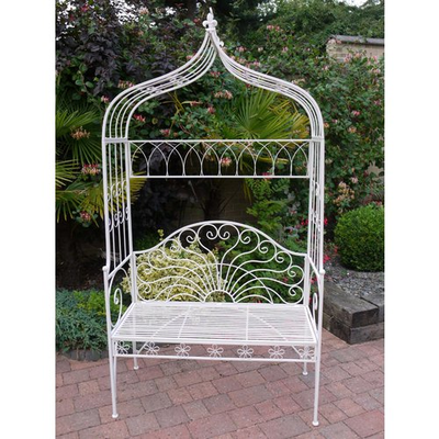 Metal Ornate Arch Bench