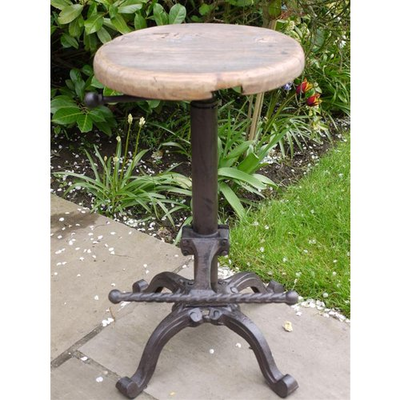 Wooden Top Seat Stool