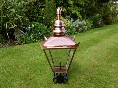 Small Copper Lamp Top