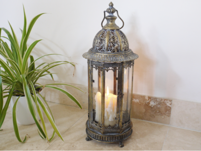 Brass Effect Lantern