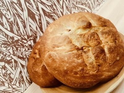 Бездрожжевой хлеб с грецким орехом