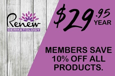 Renew Dermatology Annual Product Membership