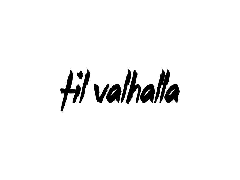 Til Valhalla Vinyl Military Decal
