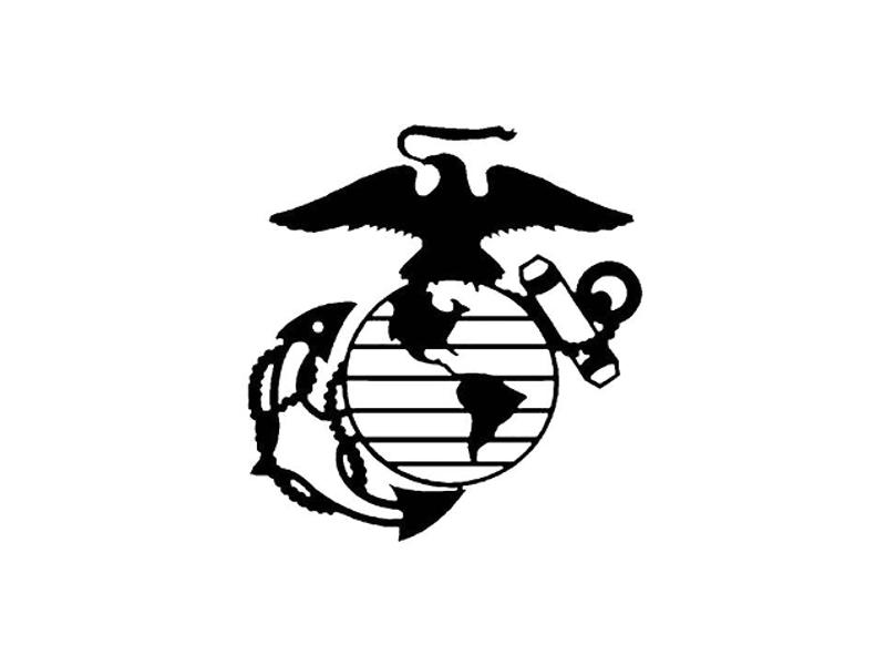 USMC Vinyl Military Decal
