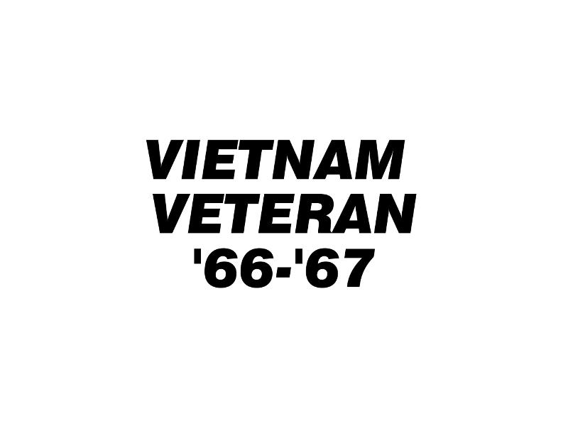 VIET VET '66-'67  Vinyl Decal